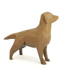 Golden Retriever - Arquitetura - Cachorro - Dog - Animais - Pet - Petdecor Interiores - Esculturas - Arte - Design - Casa - Quarto - Cozinha - Escritório - Pássaros - Geométricos Leão Geométrico - Adorno - Sala - Decoração - Decor - Home - Dudecor